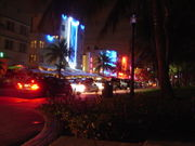 South Miami Beach, Fl. at Night.